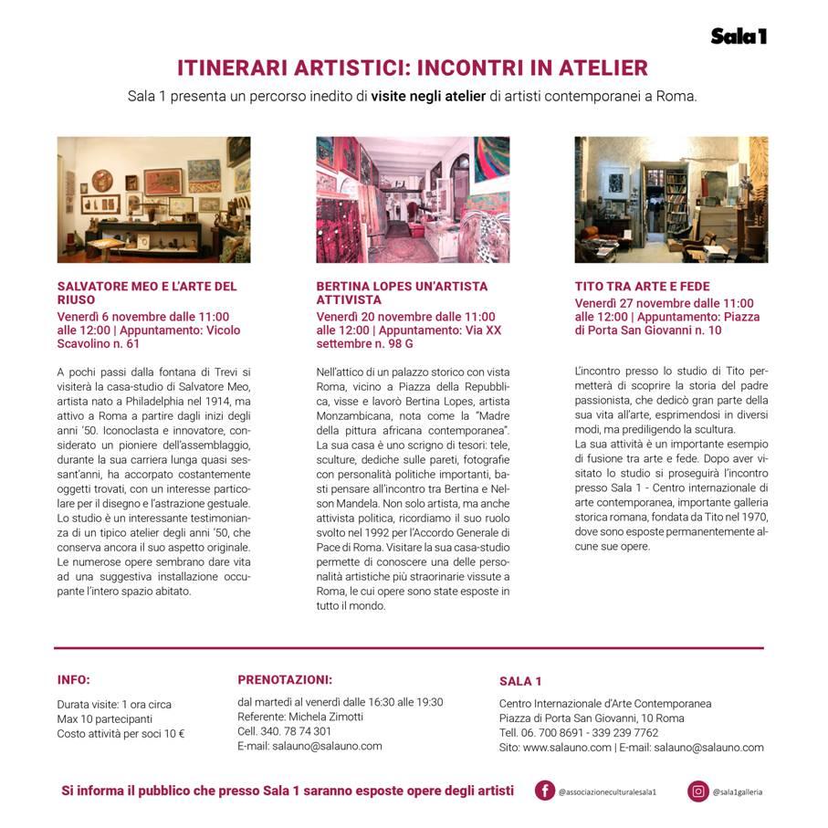 06/11/2020 – Visita in atelier d'artista 🗓
